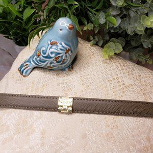 ANN TAYLOR TAUPE STRETCH BELT